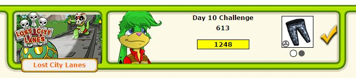 Neopets Daily Dare Lost City Lanes.JPG